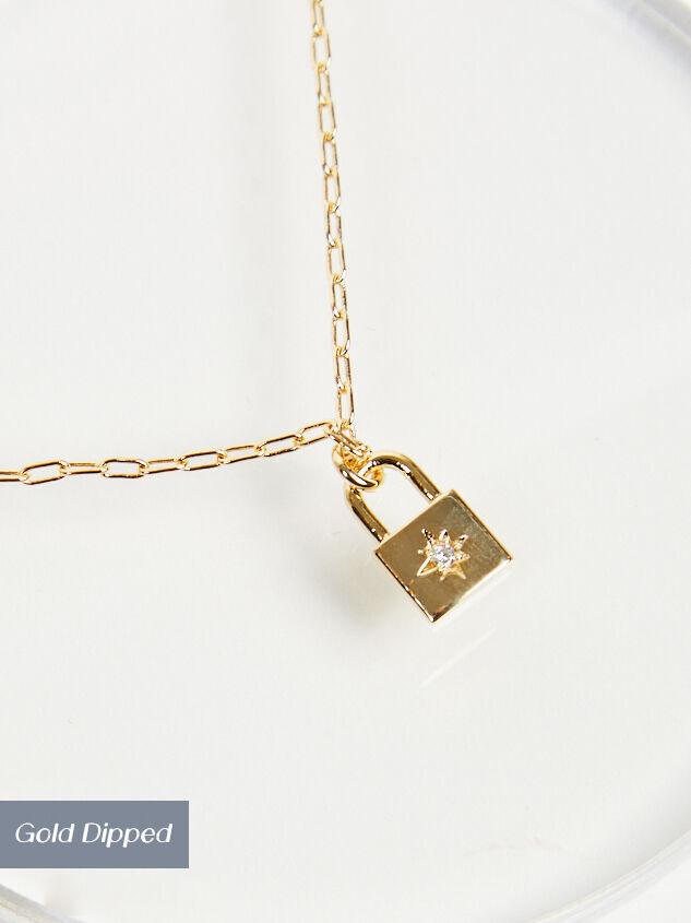 Burst Lock Necklace - Altar'd State