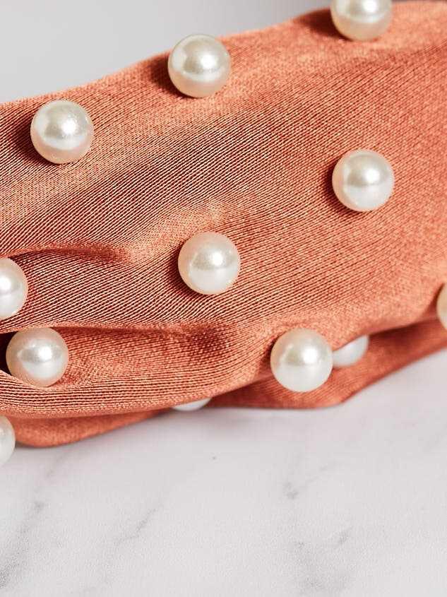 Pearly Girl Headband - Cinnamon Detail 3 - Altar'd State