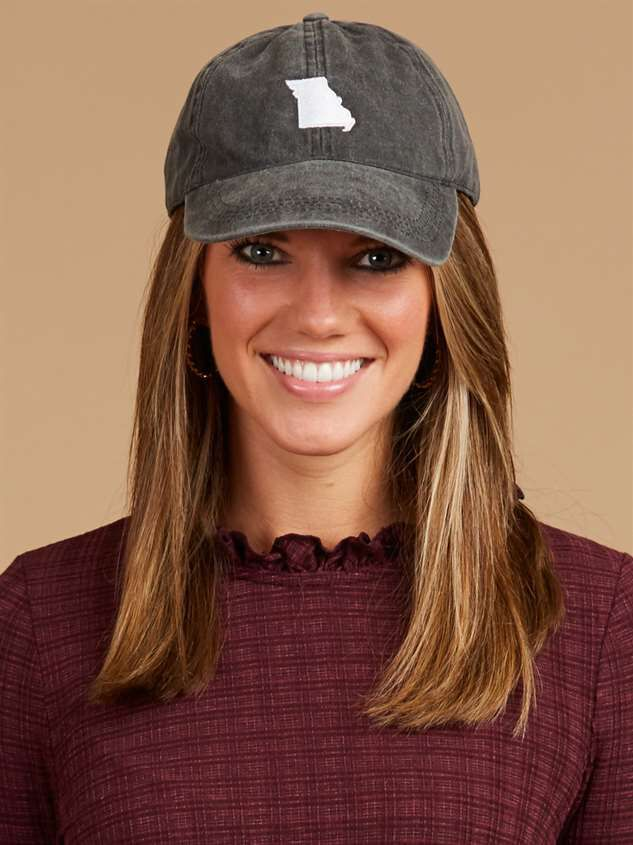 Our Home Canvas Baseball Hat – Missouri Detail 2 - Altar'd State