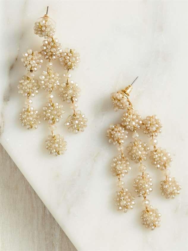 Flower Chandelier Earrings - Altar'd State