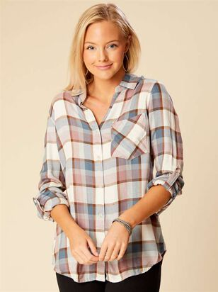 Roselle Plaid Top - Altar'd State