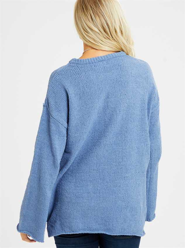 Eversoft Chenille Flare Sleeve Sweater Detail 4 - Altar'd State