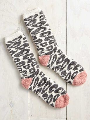 Cozy Snow Leopard Socks - Altar'd State