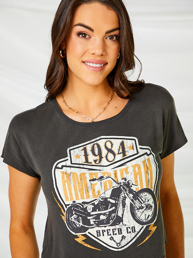 American Motorcycle Cropped Tee Detail 4 - Altar'd State