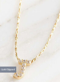 Rhinestone Initial Necklace – J - Altar'd State