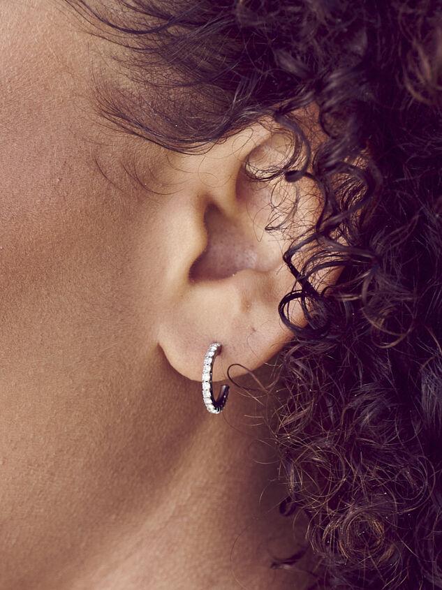 Rhinestone Mini Hoop Earring Set - Altar'd State