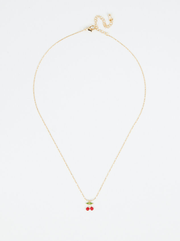 Dainty Cherry Necklace Detail 3 - Altar'd State