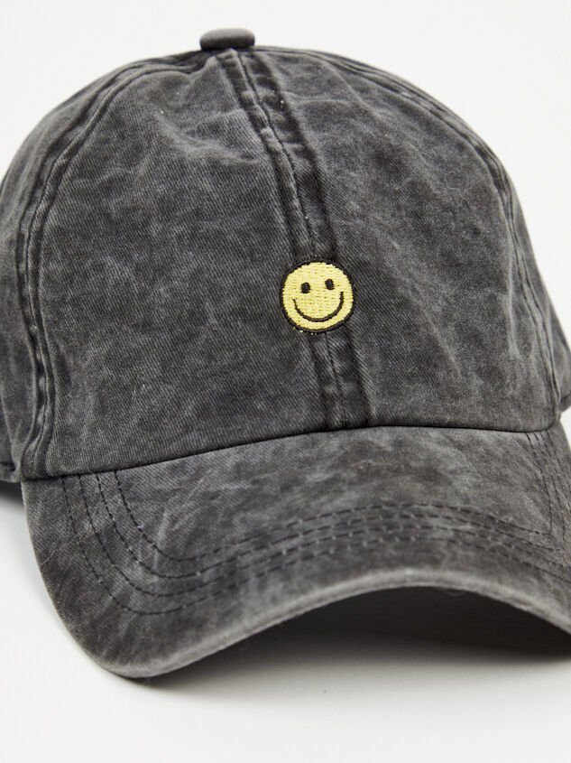 Smiley Baseball Cap Detail 3 - Altar'd State