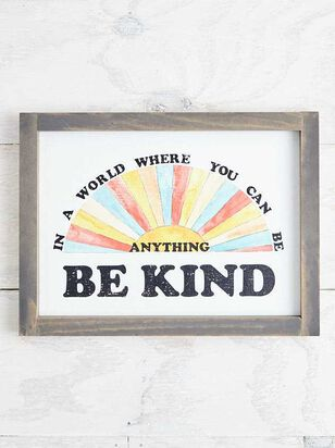 Be Kind Wall Art - Altar'd State