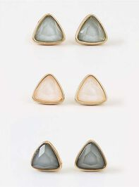 Pearled Triangle Earring Set - Altar'd State