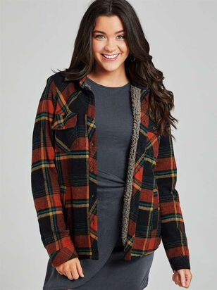 Plaid Sherpa Lined Jacket - Altar'd State