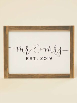 Mr. and Mrs. Established 2019 Wall Art - Altar'd State