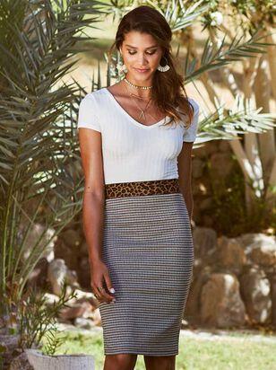 Leopard Dreams Midi Skirt - Altar'd State