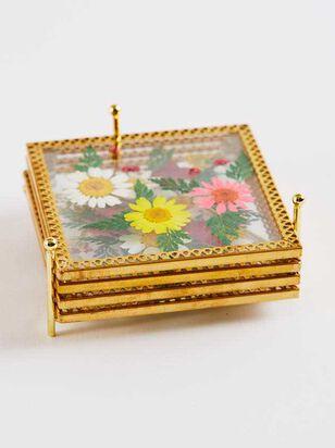 Square Floral Coaster Set - Altar'd State
