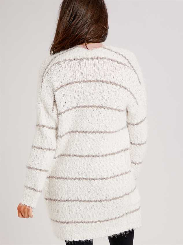 Lovely Lash Pinstripe Cardigan Sweater Detail 3 - Altar'd State