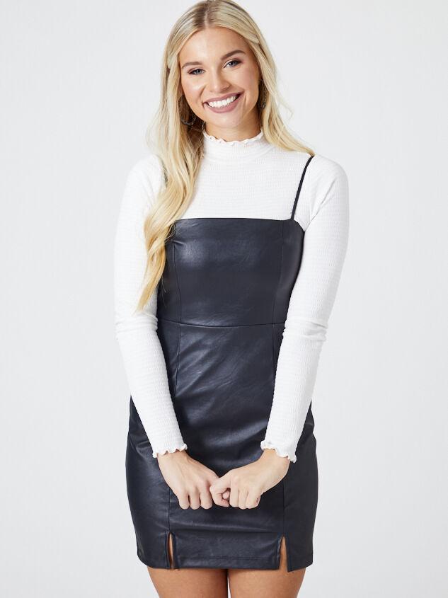 Odette Vegan Leather Dress - Altar'd State