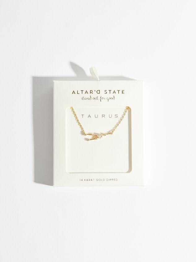 Zodiac Charm Necklace - Taurus Detail 3 - Altar'd State