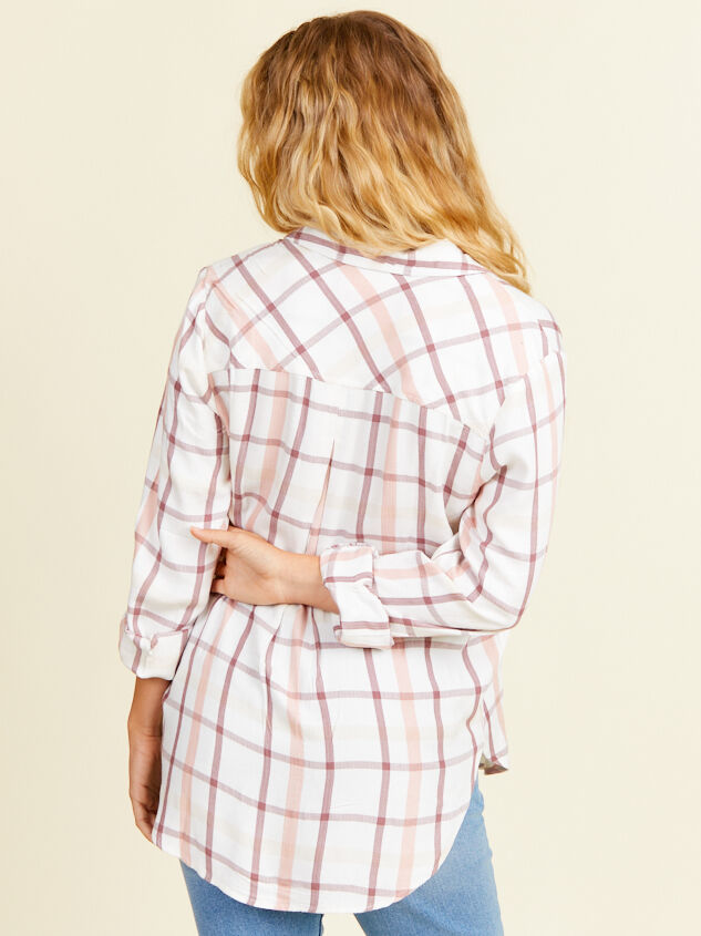 Kimberly Plaid Top Detail 3 - Altar'd State