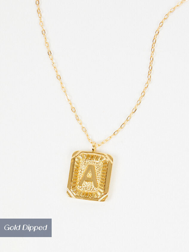 Burst Tag Monogram Necklace - A Detail 2 - Altar'd State