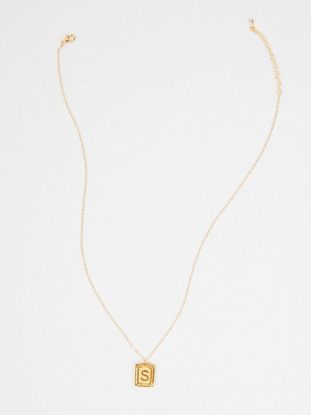 Burst Tag Monogram Necklace - S Detail 4 - Altar'd State