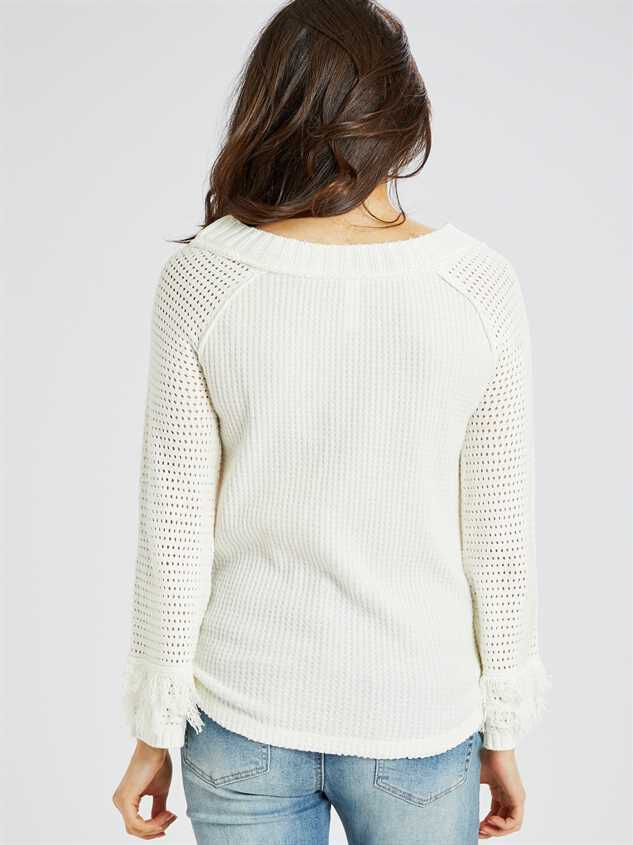 Dreamin' in Thermal Fringe Top Detail 3 - Altar'd State