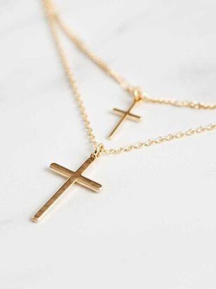 Layered Cross Necklace - Altar'd State