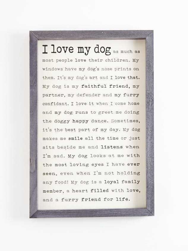 I Love My Dog Wall Art - Altar'd State