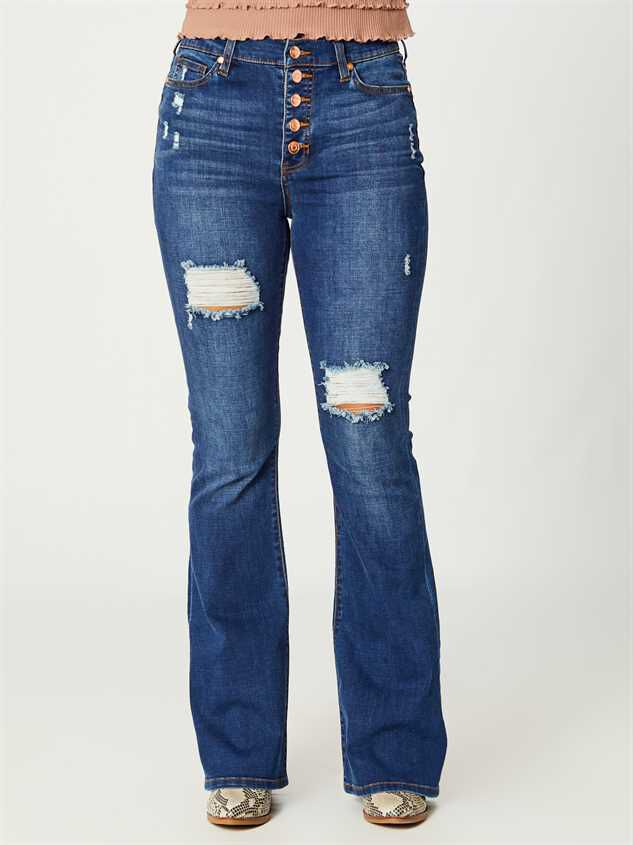 Elliana Flare Jeans Detail 2 - Altar'd State