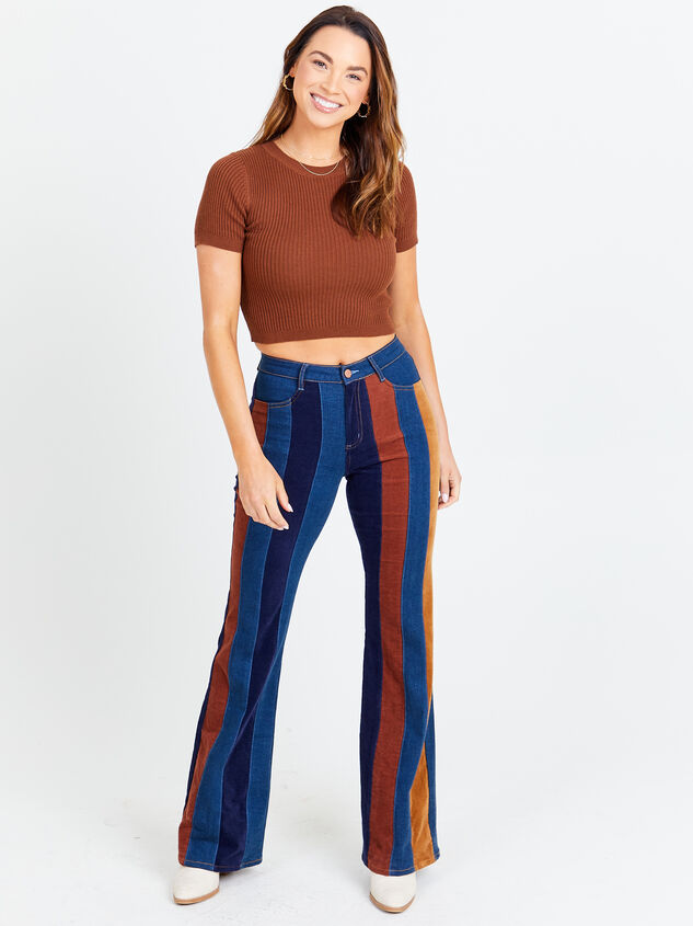 Suede Flare Jeans Detail 4 - Altar'd State