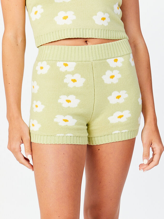 Daisy Sweater Lounge Shorts Detail 1 - Altar'd State