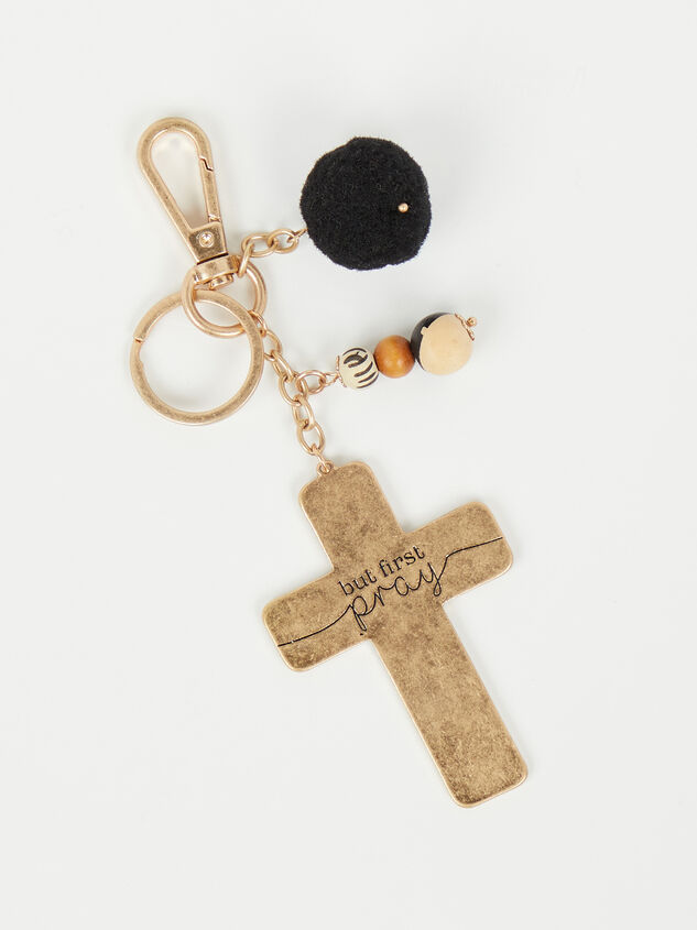 But First Pray Keychain - Altar'd State