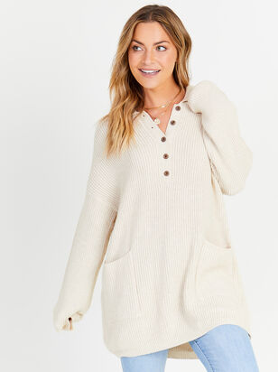 Henley Tunic Sweater - Altar'd State