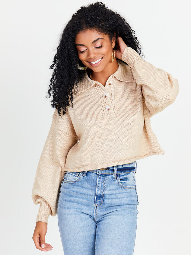 Polo Boxy Cropped Sweater - Altar'd State