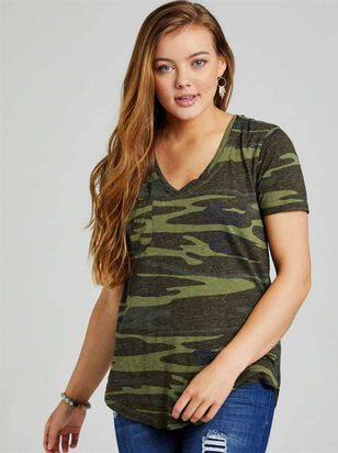 Camo Pocket Top - Altar'd State