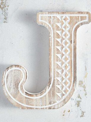 Wooden Monogram Letter Block - J - Altar'd State