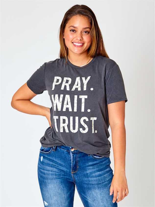Pray. Wait. Trust. Top - Black - Altar'd State
