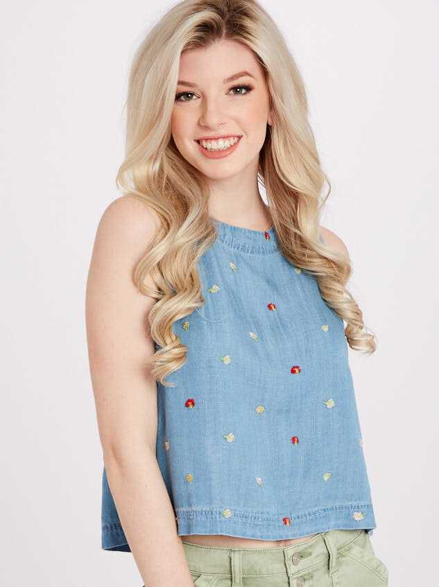 Sweet Chambray Top - Altar'd State