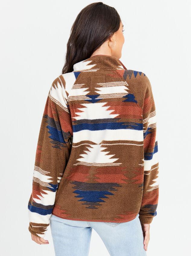 Aztec Fleece Jacket Detail 2 - Altar'd State