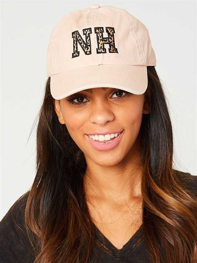New Hampshire Leopard Baseball Hat Detail 2 - Altar'd State