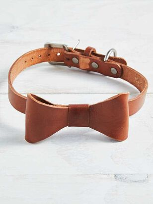 Bear & Ollie's Leather Bow Dog Collar - Large - Altar'd State