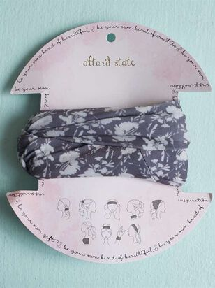 Black Floral Hair Bandeau - Altar'd State