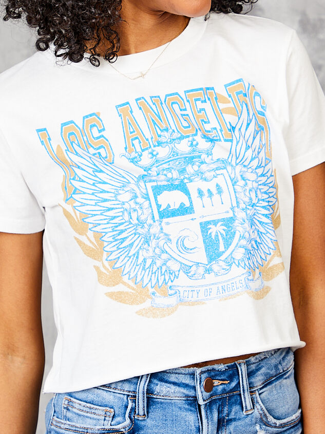 Los Angeles Cropped Tee Detail 5 - Altar'd State