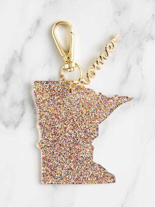 Home Glitter Keychain - Minnesota - Altar'd State