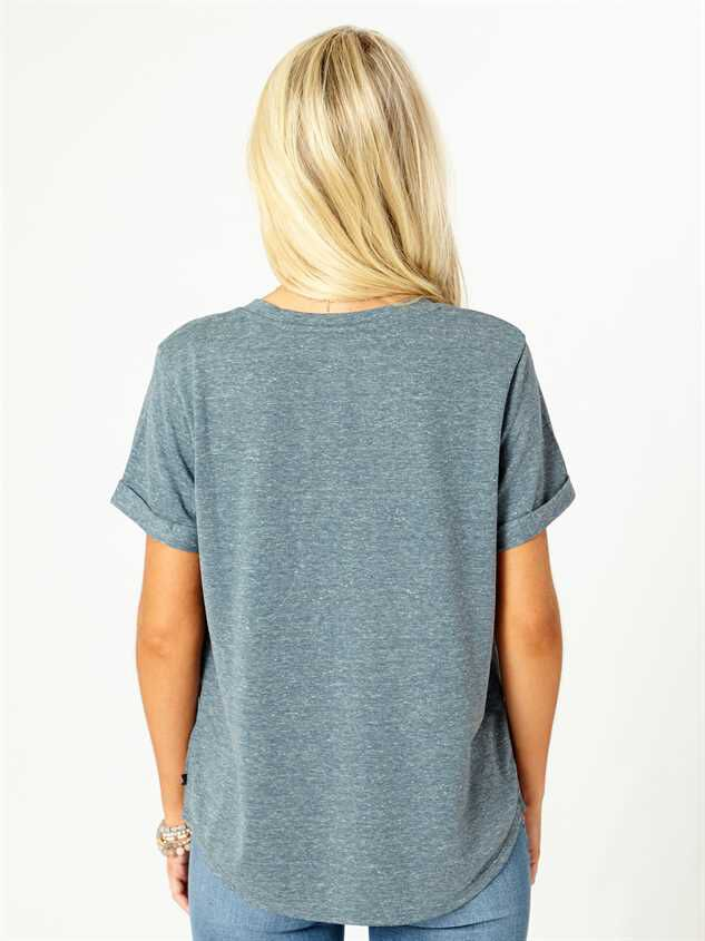 United By Blue Pocket Tee - Blue Detail 3 - Altar'd State