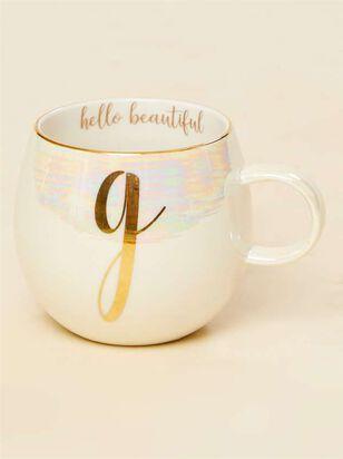 Hello Beautiful Iridescent Monogram Mug - G - Altar'd State