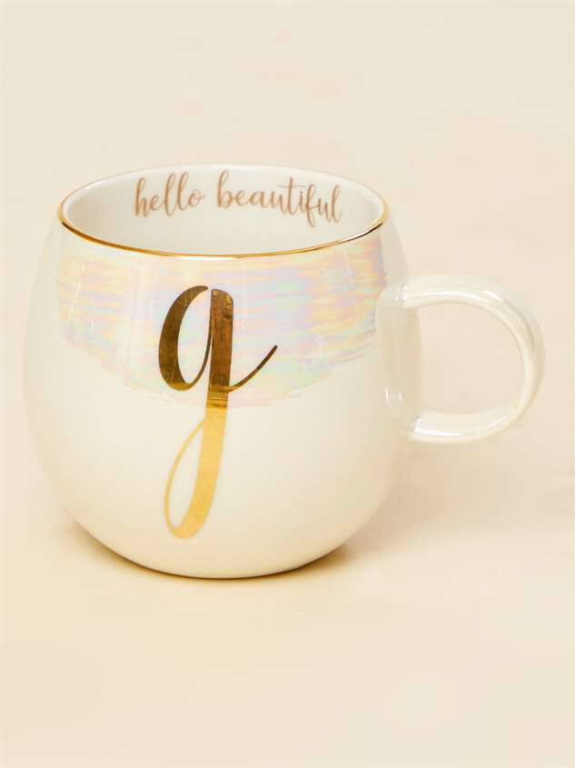 Hello Beautiful Iridescent Monogram Mug - G - Altar'd State