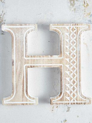 Wooden Monogram Letter Block - H - Altar'd State
