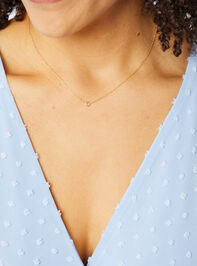 Dainty Chanel Charm Necklace - Gold Detail 3 - Altar'd State
