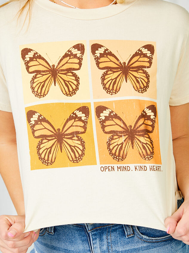 Open Mind Kind Heart Cropped Tee Detail 5 - Altar'd State