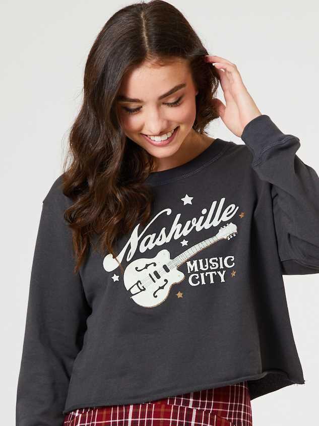 Nashville Music City Pullover Detail 2 - Altar'd State